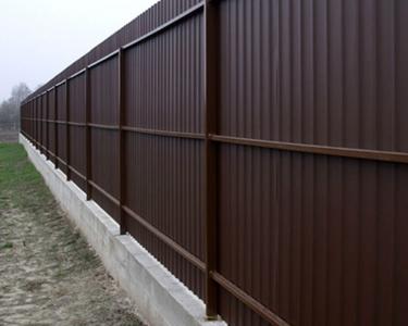 Забор профлист бетон дэстар бетон